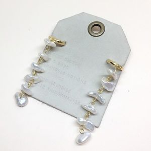 NWT Anthropologie pearl chain earrings